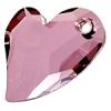 Devoted 2U Heart 36mm Antique Pink Crystal